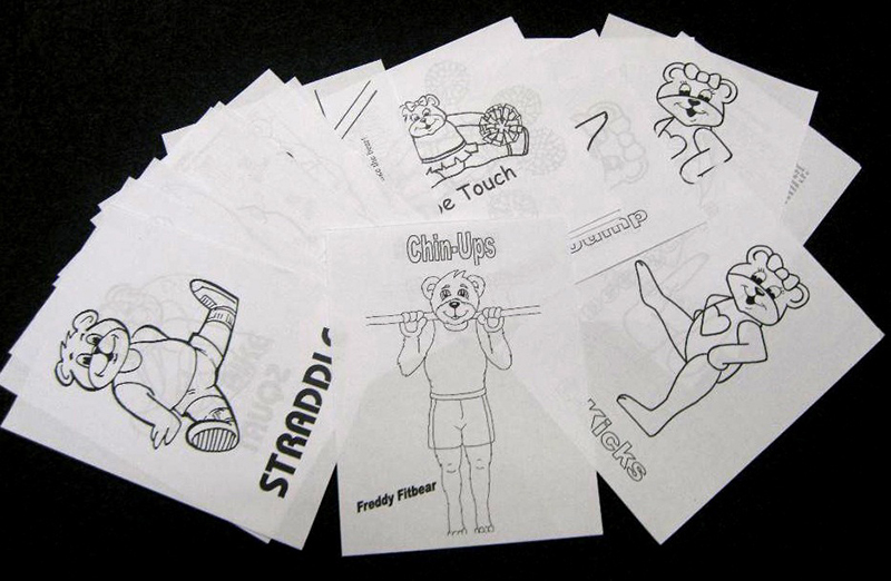 preschool gymnastics coloring pages - photo#21