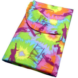 "Fleece Gymnastics Print Blanket 48"" x 60"""