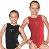 Leotard embroidered Velvet Low scoop back- Child & Adult Sizes