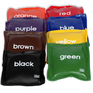 Colored Bean Bag Set of 8