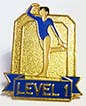 Level 1 Gymnastics Pin.