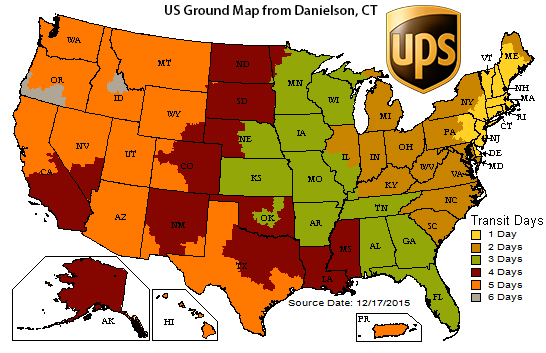 Ups Delivery Map Shipping Policy