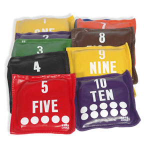 Numbered Bean Bag Set / 10