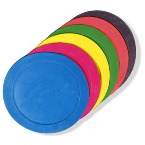 "Poly Spots- 9"" Rainbow- (12 Count)"